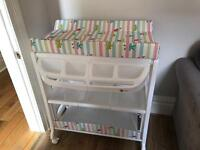 Baby Changing Table inc Bath (My Child Peachy Changing Unit)