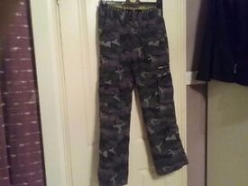 Boys camouflage trousers, age 12-13