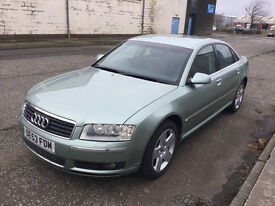 Audi A8 4.0 Tdi Quattro - FULL AUDI SERVICE HISTORY - Fingertip Recognition - KEYLESS