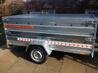 NEW Car trailer 7.7 x 4.1 double broadside