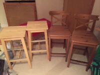 IKEA bar stools and chairs - excellent condition