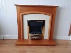 Fire with wood surround - excellent condition