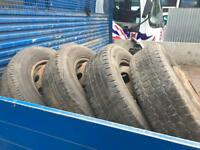 Ford transit pick up 2007 wheels and tyres
