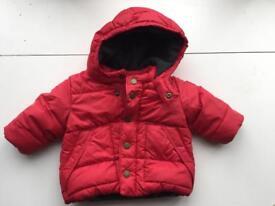 Boys red baby gap puffa jacket
