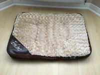 Plush Eskimo Dog Bed. Faux Fur on top with Waterproof Bottom