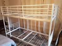 Ikea metal white bunk bed