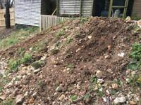 Soil hardcore stone broken patio slabs brick FREE