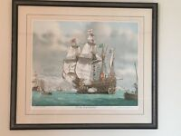 Framed print - Mary Rose of Southsea Castle