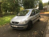 2003 VAUXHALL ZAFIRA CLUB 1.6 PETROL 7 SEATER **DRIVES GOOD + CAM BELT AND CLUTCH REPLACED**