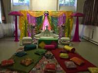 Asian Wedding, Floral Stages, Mehndi Stages & House lighting Hire
