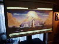 "100"" pull down projector screen"