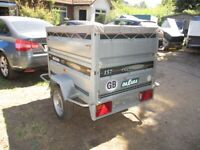 DAXARA 157 DOUBLE HEIGHT (650KG) GOODS TRAILER WITH COVER.....