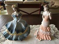 Two porcelain Coalport figurines, excellent condition