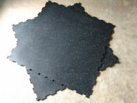 Commercial grade gym flooring mats (interlocking), gym equipment (£14)