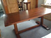 Beautiful Indian hardwood John Lewis dining table and 6 chairs