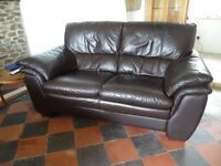 Two 2 Seater Leather sofas