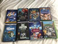 8 children's DVDs, mostly Disney