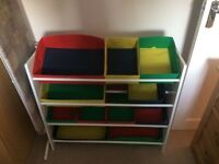 HOME 4 Tier Childrens Basket Storage Unit