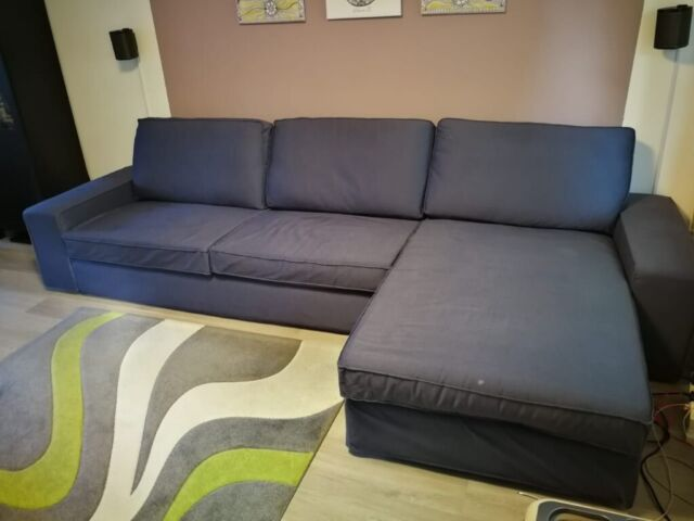 Stupendous Ikea 3 Seat Sofa Hillared With Chaise Longue Hillared Dark Blue In Oxford Oxfordshire Gumtree Inzonedesignstudio Interior Chair Design Inzonedesignstudiocom
