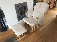 Slider rocking chair and stool