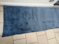 Blue Hessian backed brand new carpet off cuts for sale