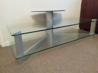Glass dining table, TV glass table and glass shelves for sale