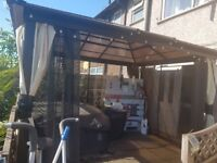 Gazebo Frame only - no curtains or apex roof