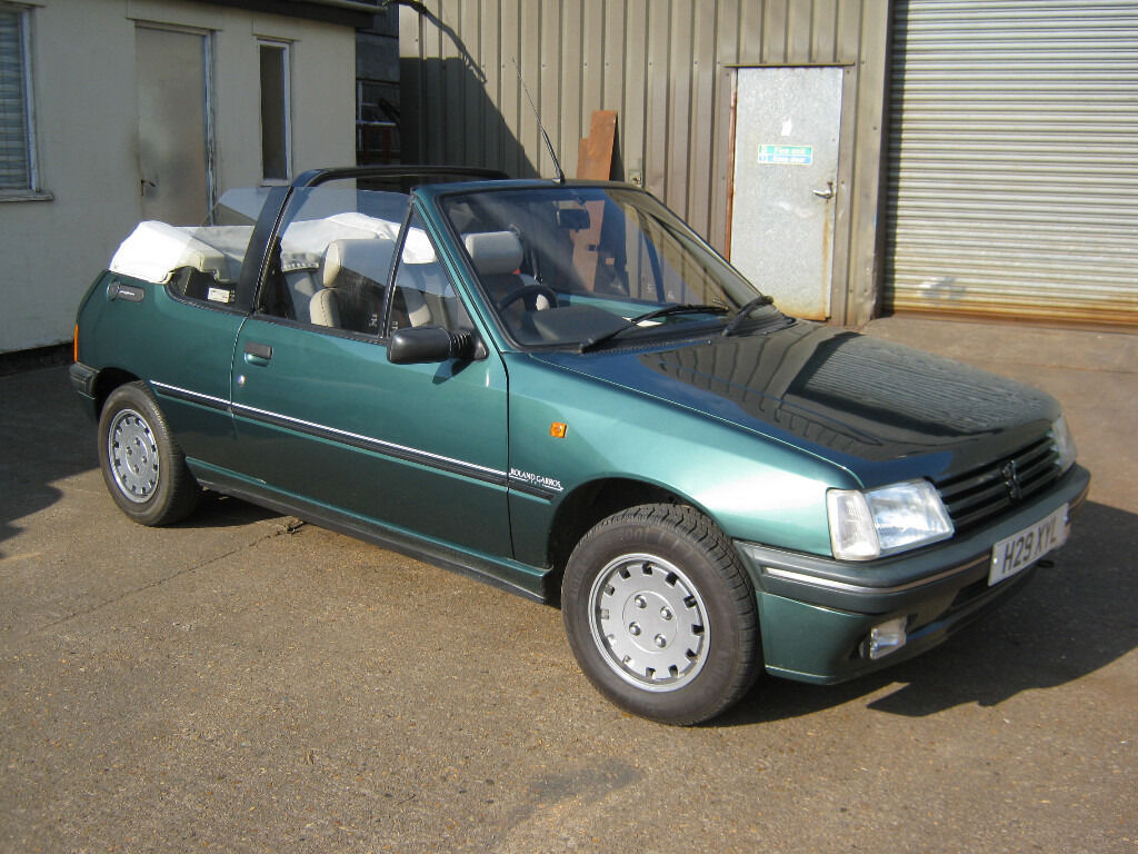 peugeot 205 roland garros cabriolet 1 4 limited edition 1990 h reg 77k miles only in eye. Black Bedroom Furniture Sets. Home Design Ideas