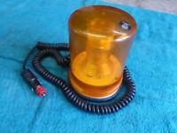 Magnetic Orange Flashing Beacon 12v (new)