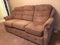 3 seater and 1 seater sofas very comfy in good condition