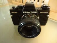 PRAKTICA CAMERA B200 AND PRAKTICA 2.8/135 MC PENTACON ZOOM AND ACCESSORIES