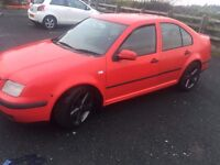 Red Vw bora. test untill Nov 2017. great running car