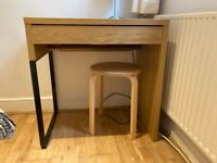 Ikea MICKE Desk, oak effect 73x50 cm
