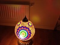 Authentic Middle Eastern Stained Glass Lamp