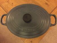 Le Creuset 25cm Cast Iron Oval Casserole 25cm - Satin Black