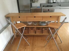 BREAKFAST BAR - including x2 High Stools and 6 storage baskets