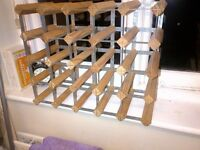 wooden wine rack for 25 bottles