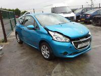 **FOR BREAKING** 2013 Peugeot 208 1.2 petrol