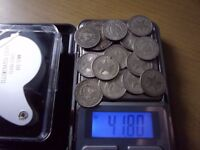 14 genuine old Cuban silver coins, nice examples ( actual silver ) Cuba. COLLECTION SWINDON.