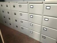 Grey Metal 4 Draw Filing Cabinet- like New