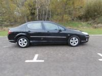 56 PLATE PEUGEOT 407 1.6 HDI SE - ONLY 89000 MILES - BLACK - BARGAIN !!