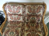 Cane furniture 2 seater sofa and 2 chairs
