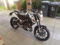 KTM DUKE 125 2013 1 owner bike