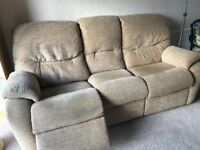 GPlan 3 Seater Sofa, with one recliner.