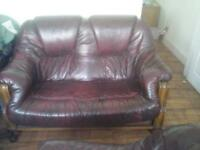 2 SEATER SOFA AND CHAIR .....GOOD CONDITION