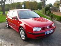 VOLSWAGEN GOLF 1.6 MATCH, 2004, 53 PLATE, NEW MOT, FULL SERVICE HISTORY.