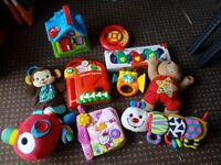 Baby toy bundle. Includes v tech, fisher price, leap frog