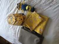 Minions bedding with Pillow case , light shade minions toy items & black out curtains from next