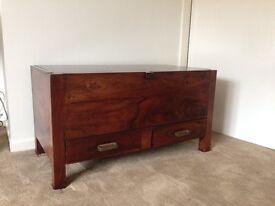 Dark wood storage chest