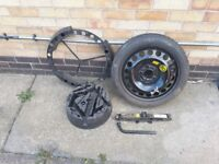 Vectra space saver spare wheel and kit. Never used